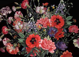 Black flower bouquet I