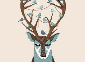 The deer & birds