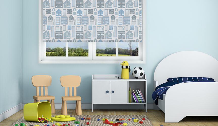 Blue little houses