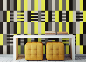 Yellow stripes weaving