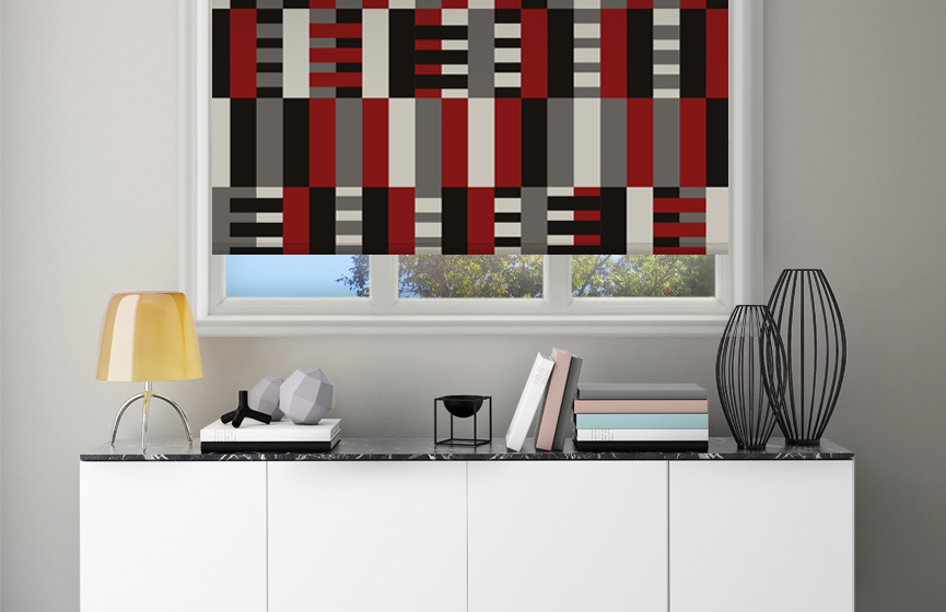 Red stripes weaving