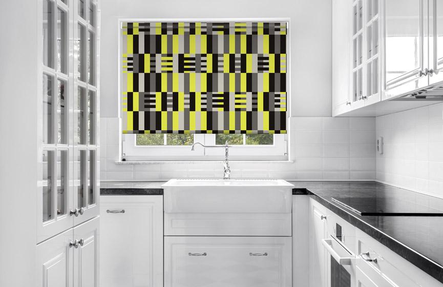Yellow stripes weaving