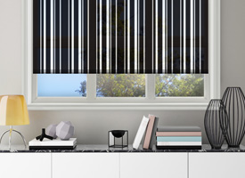 Black And White Roller Blinds Striped
