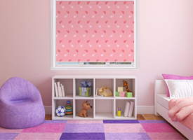 Girls roller blinds