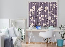 Coloured vertical blinds