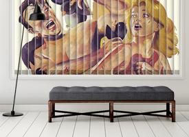 Custom vertical blinds