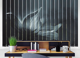 Floral vertical blinds