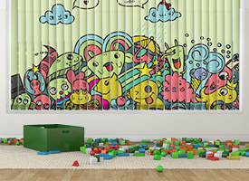 Kids vertical blinds