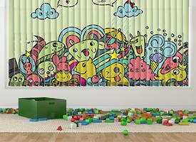 Kids vertical blinds