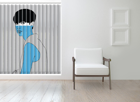 Small vertical blinds