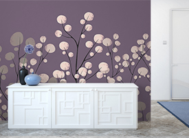 Colourful wall murals