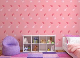 Girls wall murals