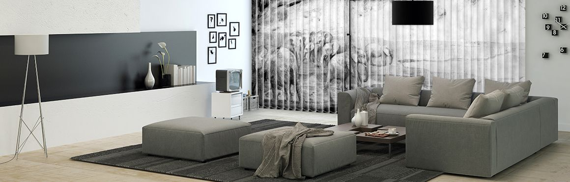 Unique wall decor and window treatments: wall murals, vertical ...