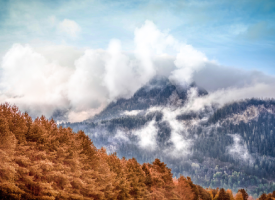 Cloudy Autumn Mountains